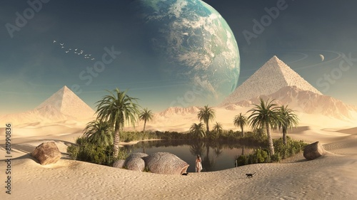 Leinwanddruck Bild Оазис
