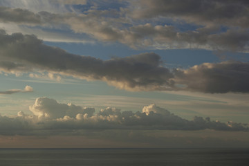 Clouds over the sea.