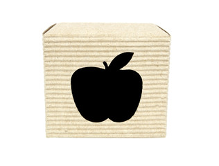 Cartridge box with apple cutout front view