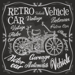 retro car vector logo design template. vehicle or transport icon