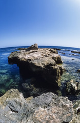 TUNISIA, Mahdia, view of the Roman Port ruins - FILM SCAN
