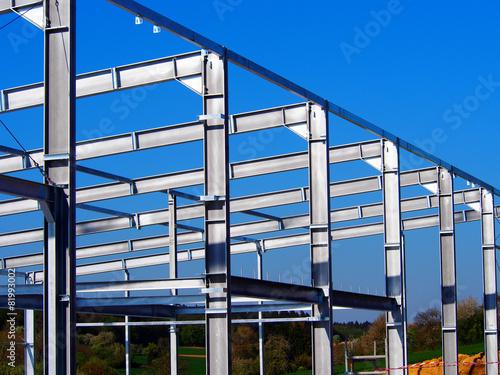 Leinwanddruck Bild Stahlbau