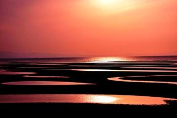 真玉海岸の夕日