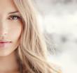 Portrait of a sexy blonde closeup
