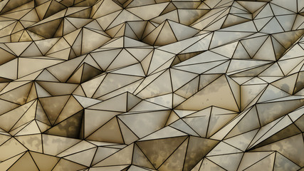 abstract brown triangles