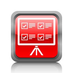 White Presentation icon