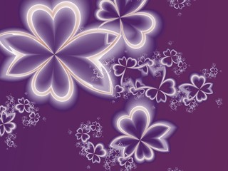 Flower pattern in fractal design. Purple palette. Artwork for cr