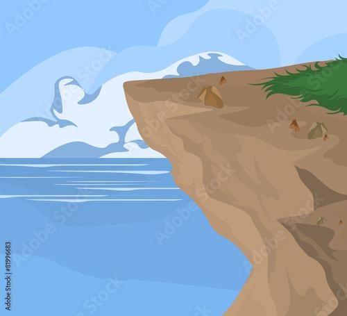 Coastal and sea,nature landscape background