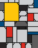 geometric abstract pattern de stijl art