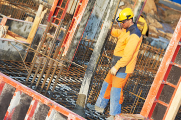 builder worker at concrete work