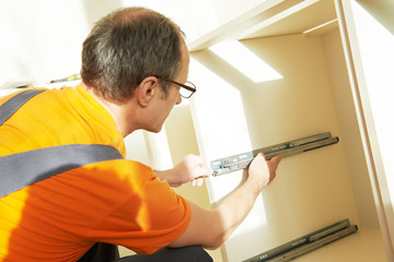 kitchen installer at carpenter work