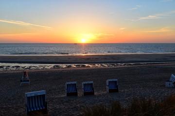 Strand Sylt Urlaub Sonnenuntergang