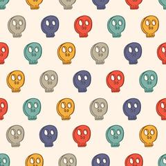 skull seamless background