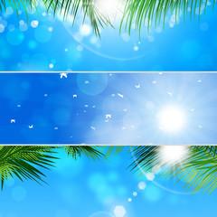 Tropical Banner Set