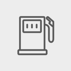 Gasoline pump thin line icon