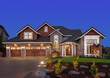 canvas print picture - Beautiful Home Exterior at Night