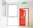 Building Emergency Exit with Exit Sign - 82003690