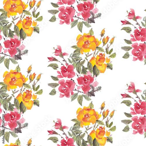 Fototapeta Watercolor flowers