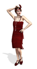 1920's Flapper in Red