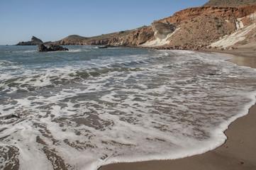 Playa de Cala Rajá en Cabo de Gata. Almería