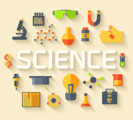 Retro experiments in a science chemistry laboratory icon