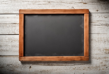 blackboard on white wood