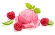 Raspberry  ice cream with berry