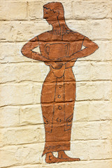 Woman silhouette - wall design in Greek stile.