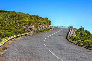 Mountain road, Madeira island, Portugal