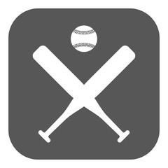 The baseball icon. Sport symbol. Flat