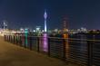 Uferpromenade Düsseldorf bei nacht