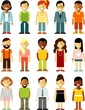 People characters stand set in flat style - 82008234