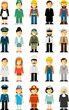 People occupation characters set in flat style isolated - 82008248