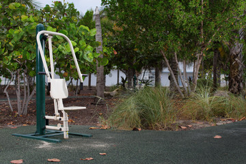 Fitness trail in the park
