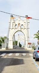 Puente sobre el río Ebro en Amposta, Tarragona