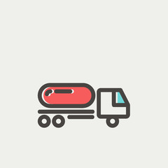 Fuel truck thin line icon
