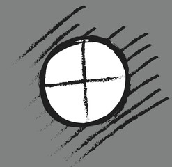 doodle sniper black finder target illustration