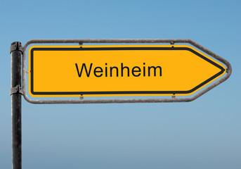 Strassenschild 35 - Weinheim