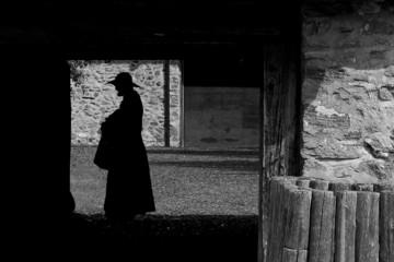 A Jesuit's shadow