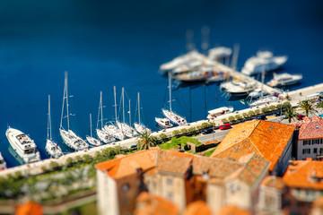 Harbor in Kotor city