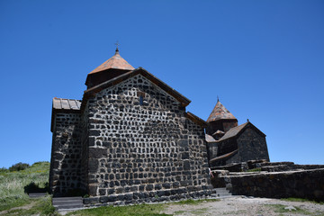 part of the temple ensemble on Sevan lake