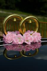 Свадебные кольца на крыше