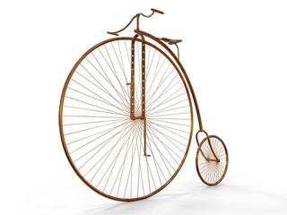 Old Metallic Bicycle