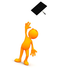 3d Guy: Throwing Mortarboard into Air