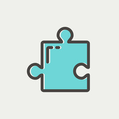 Jigsaw Puzzle thin line icon