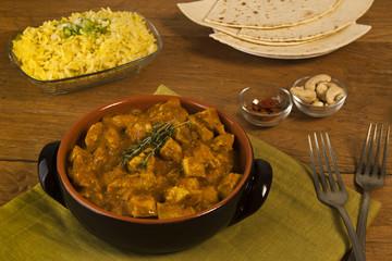 Chicken curry with saffron basmati rice