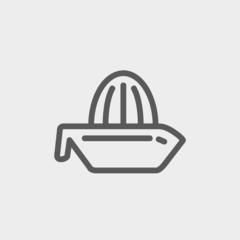 Lemon Squeezer thin line icon