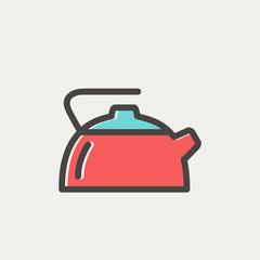 Kettle thin line icon