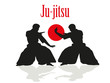 Two men are engaged in Ju-jitsu fight. - 82013457