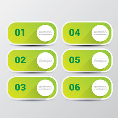clean modern green digital Infographic banners.